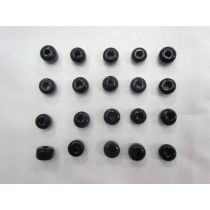 Black Glass Beads- 20 for $3- RW135