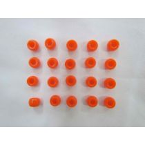 Orange Beads- 20 for $1.50- RW136