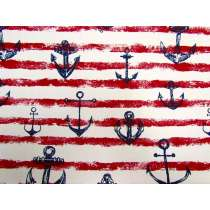 Anchor Canvas- Red