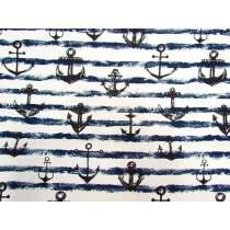 Anchor Canvas- Navy