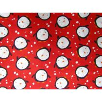 Merry Christmas! Penguins- Red
