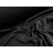 Self Stripe Pique Knit- Black