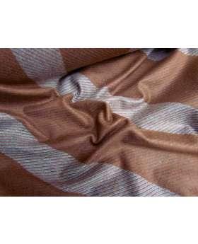 Bobbi Stripe Wool Flannel- Red Brick
