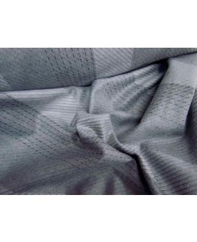 Bobbi Stripe Wool Flannel- Gravel