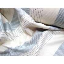 Bobbi Stripe Wool Flannel- Bluebell