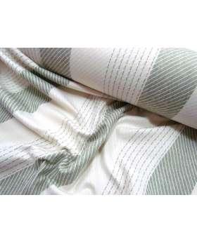 Bobbi Stripe Wool Flannel- Olive Branch