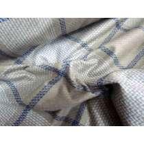 Elephant Check Wool Flannel- Camel/Blue