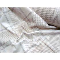Elephant Check Wool Flannel- Cream Beige