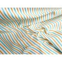 3mm Stripe Cotton- Mint / Mustard