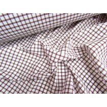 Rusty Brown Check Cotton