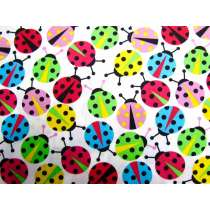 Colourful Lady Bugs- White
