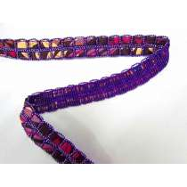 Double Satin Weave Trim- Purple