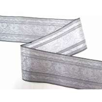 Foil Floral Trim- Silver