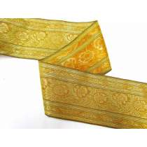 Foil Floral Trim- Antique Gold
