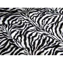 Animal Print Lycra- Zebra (Shiny)