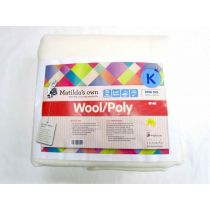 King Size Matilda's Own M140 Wool / Poly Precut Wadding