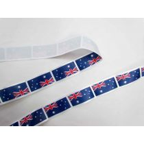 Australian Flag Satin Ribbon- 35mm