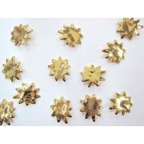 Chunky Gold Star Splatter - Couture Buttons- CB199