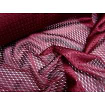 High Fashion Basketball Mesh- Maroon