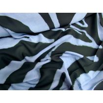 Zoomed Zebra Georgette- Blue