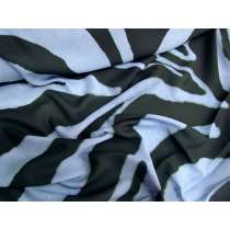 Zoomed Zebra Georgette- Blue