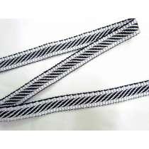 Candy Stripe Jacquard Webbing Tape- Liquorice