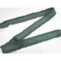 40mm Ruffle Ribbon Trim- Evergreen