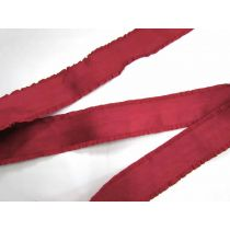 60mm Ruffle Ribbon Trim- Crimson