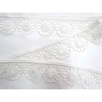 Daisy Plate Lace Trim- White