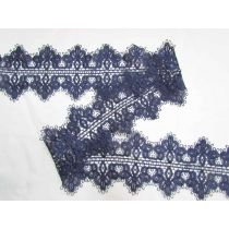 Romantic Double Edged Lace Trim- Navy