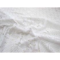 Pure Snow Border Stretch Lace