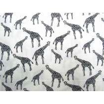 Giraffe Park Cotton- White