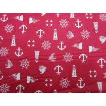 Nautical Notions Cotton- Red
