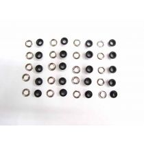 10mm Fashion Eyelet- Matte Black 20 for $2 RW209