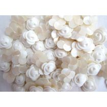 White - Opal Finish Flower Couture Buttons- CB221