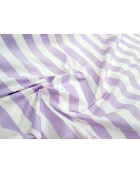 Striped Cotton Poplin- Lilac
