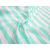 Striped Cotton Poplin- Mint