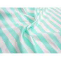 Striped Cotton Poplin- Mint