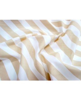 Striped Cotton Poplin- Caramel