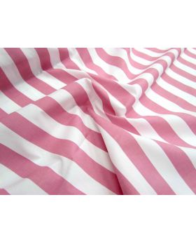 Striped Cotton Poplin- Pink