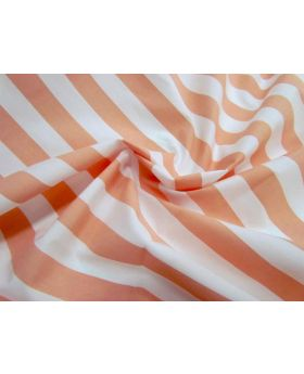 Striped Cotton Poplin- Orange Sherbet