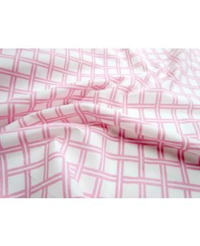 Lattice Cotton Poplin- Baby Pink