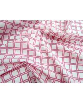 Lattice Cotton Poplin- Pink