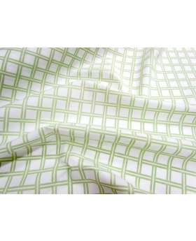 Lattice Cotton Poplin- Pistachio