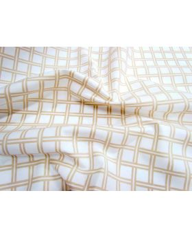 Lattice Cotton Poplin- Caramel