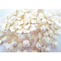 Small White - Opal Finish Flower Couture Buttons- CB234