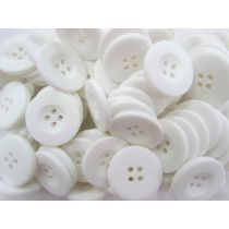 Matte White Fashion Buttons- FB052