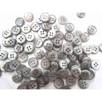 Mini Opalescent Silver Couture Buttons- CB238