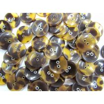 Tortoise Shell Look Fashion Buttons- FB064