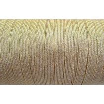 9mm Gold Metallic Elastic